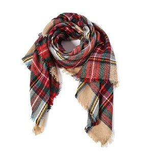 🔴3 for $15 Plaid Blanket Scarf